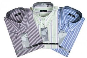 Camisa de caballero manga corta rayas mod. 182