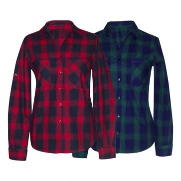 Camisas de Mujer Franela Ref. 01606