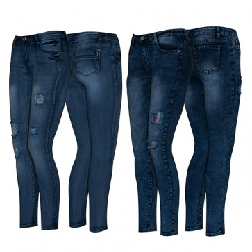 Jeans Mujer con Roturas Ref. S 180