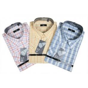 Camisa de caballero manga corta cuadros mod. 181